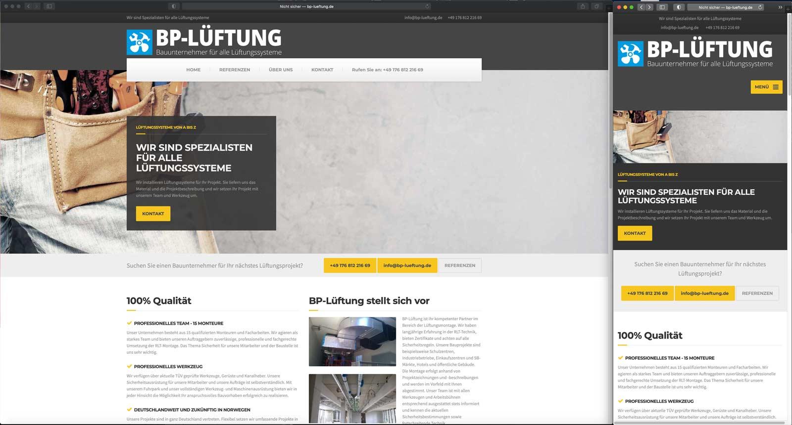 WordPress HTML Webdesign responsive