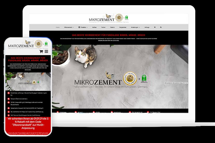 E-Commerce Online Shop google seite 1